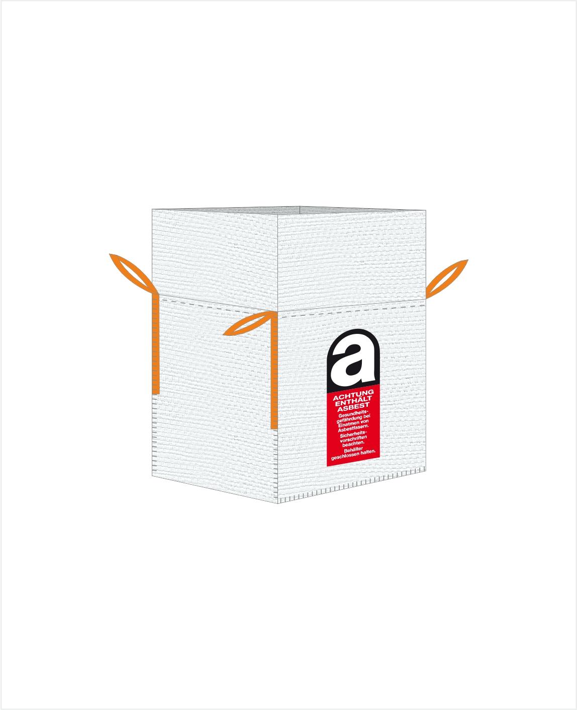 5 Stück ASBEST Entsorgungsbehälter BIG BAG 260x125x30cm 1000kg